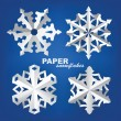 Paper snowflakes - Stock Vector
