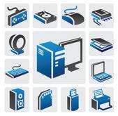 Icône de l'ordinateur — Vecteur