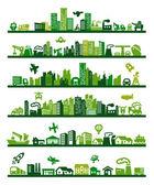 Ciudad verde — Vector de stock