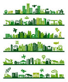 Green city — Stockvector