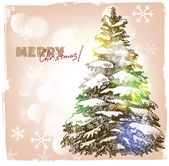 Ilustração de mão desenhada de natal — Vetorial Stock
