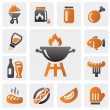 Barbecue icons — Stock Vector #16298625
