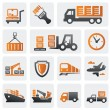 Logistic and shipping icon set — Vettoriali Stock
