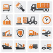 Logistic and shipping icon set — Stock Vector