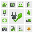 Stock Vector: Eco energy icons