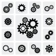 Gearwheel mechanism icon — Imagen vectorial