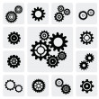 Stock Vector: Gearwheel mechanism icon