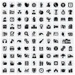 Royalty-Free Stock Vector Image: 100 web icons