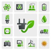 Eco energy icons — Stock Vector