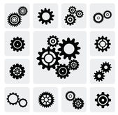Gearwheel mechanism icon — Stock Vector