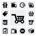zakupy ikony — Wektor stockowy