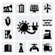 Stock Vector: Energy industry icon