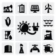 Energy industry icon — Stock Vector