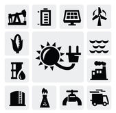Energy industry icon — Stock Vector