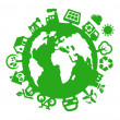 world green — Vetorial Stock
