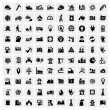 Industry icons set — Vector de stock #16784043