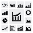 Business graph icons — Stock Vector #16784045