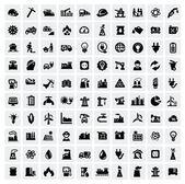 промышленность иконы set — Cтоковый вектор