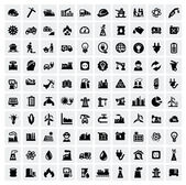 Industrie icons set — Stockvector