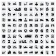 图库矢量图片: Logistic and shipping icons