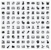 Icone di educazione — Vettoriale Stock