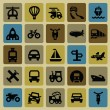 Transportation icon set — Stock Vector #16908863