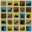 Business graph icons — Stock Vector #16908889