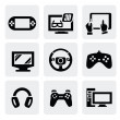 Royalty-Free Stock Vector Image: Video game icons set