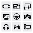 Video game icons set — Stock Vector #16908897