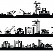 Construction icons - 图库矢量图片