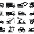 Construction transport icons - Vettoriali Stock
