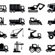 Construction transport icons - Stock Vector