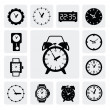 Clocks icons — Vecteur #16997815