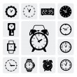 Clocks icons — Vettoriale Stock #16997815
