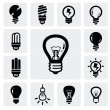 Bulbs icons — Stock Vector #16997823