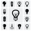 Bulbs icons — Stock Vector