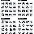 Transport icons — Vektorgrafik