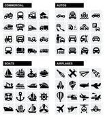 Iconos de transporte. — Vector de stock