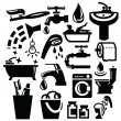 Bathroom icons - Stock Vector