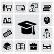 Education icons - Stockvektor