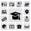 Education icons — Vector de stock #17420061
