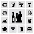 Royalty-Free Stock Imagen vectorial: Beverages icons