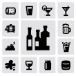 Beverages icons — Stock Vector #17420149