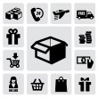 Shopping icons — Stock Vector #17420231