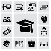 Education icons — Vector de stock