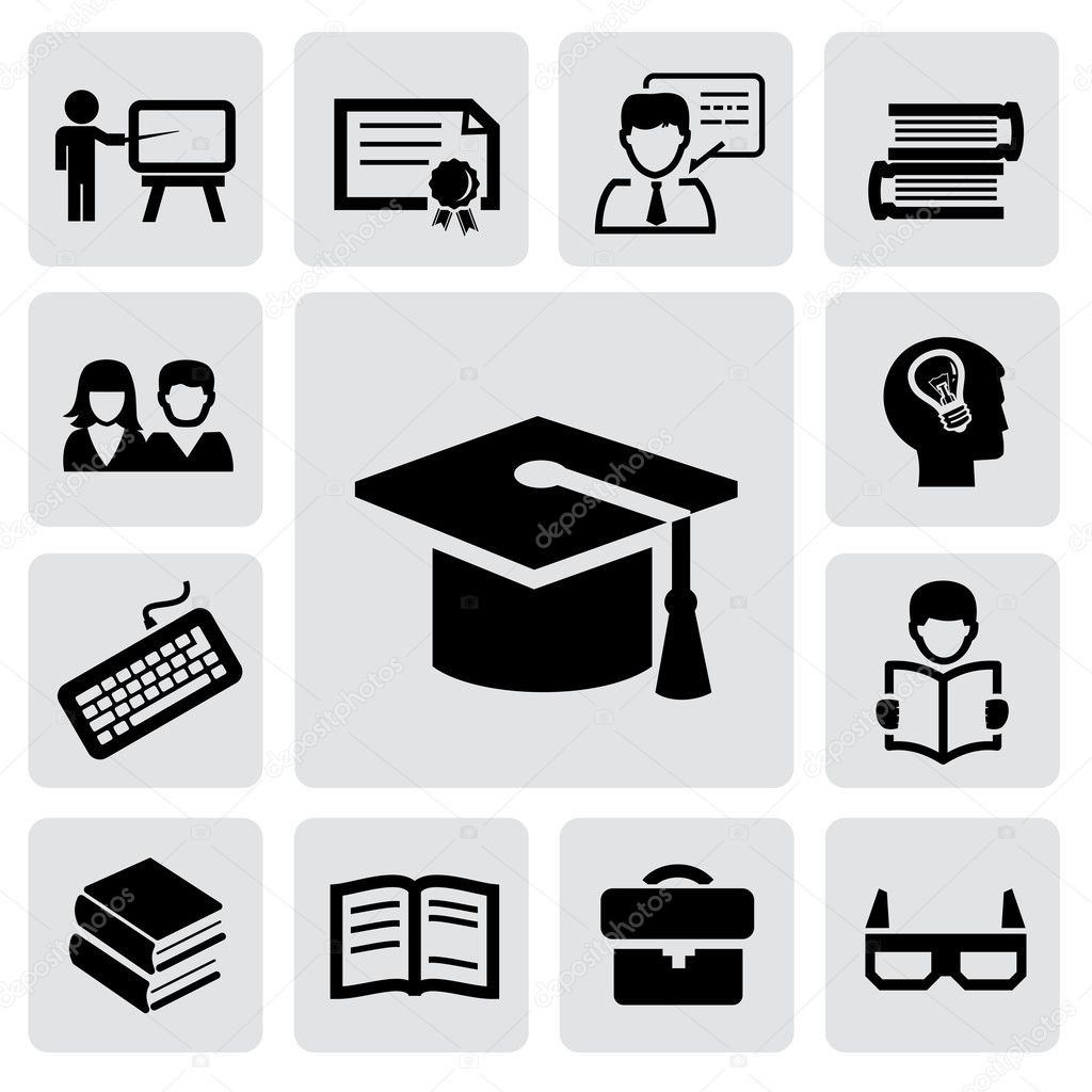 Education Icon Vector | www.imgkid.com - The Image Kid Has It!