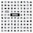 Office icons — Image vectorielle