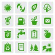 Green eco symbols — Stock Vector