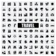 Travel and landmarks — Vector de stock
