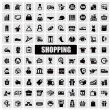 shopping ikoner — Stockvektor